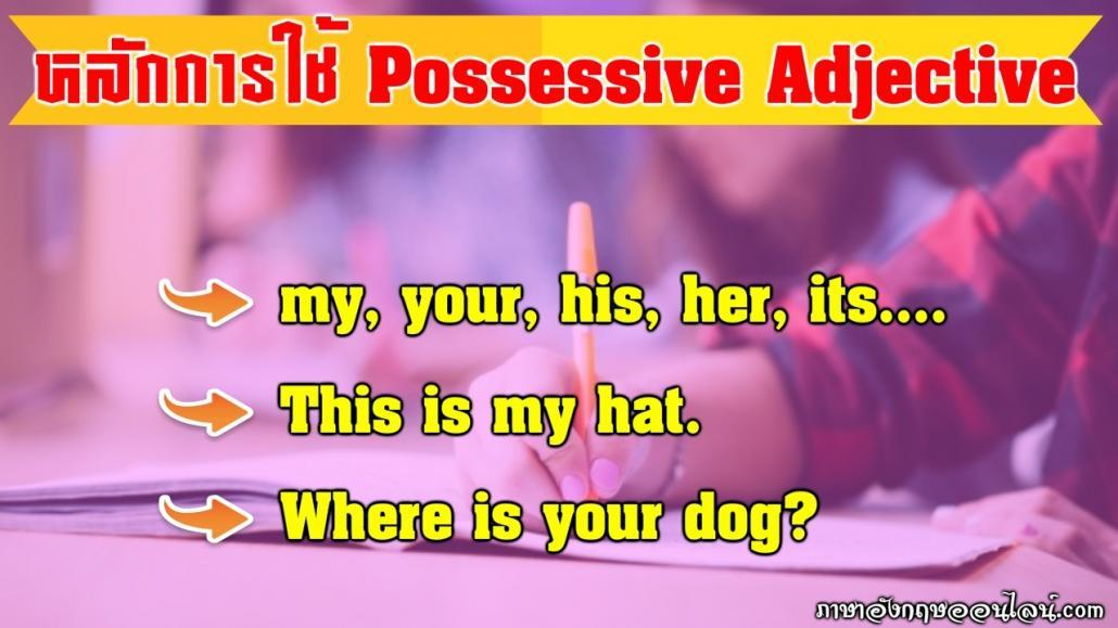 possessive adjective คือ