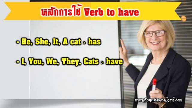 หลักการใช้ verb to have