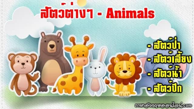 สัตว์ภาษาอังกฤษ